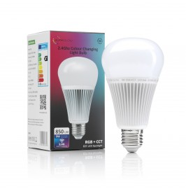 Auraglow 2.4Ghz RGB CCT Smart E27 LED Light Bulb - 70w EQV