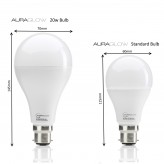 AURAGLOW 20w LED B22 Cool White - 120w EQV.3