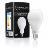 AURAGLOW Super Bright 20w LED E27 Screw Light Bulb, Warm White, 3000K -1901 Lumens - 120w EQV.1