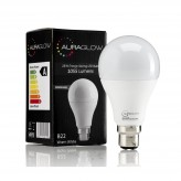 AURAGLOW 13w LED B22 Bayonet Light Bulb, Warm White, 75w Equivalent - 1055 Lumens - DIMMABLE