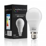AURAGLOW 9w LED B22 Cool White - 60w EQV1