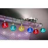 Auraglow Set of 12 Battery Operated 2.5m Indoor String LED Fairy Lights with Warm White Glow - Multi Colour Mesh Balls.3