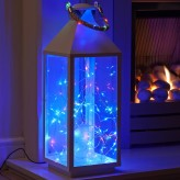 Auraglow Battery Operated 50 Micro LED Outdoor Fairy String Lights - RGB