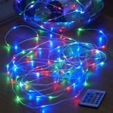 AURAGLOW PLUG-IN 10m MICRO LED OUTDOOR FAIRY STRING LIGHTS - RGB