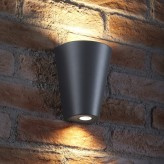 Auraglow 14w Indoor / Outdoor Double Up & Down Wall Light - Grey - Cool White