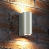 AURAGLOW 14W OUTDOOR DOUBLE UP & DOWN WALL LIGHT - WINDSOR - White