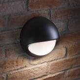Auraglow IP44 Indoor / Outdoor 5w LED Round Wall Light Black - Warm White.2