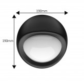 Auraglow IP44 Indoor / Outdoor 5w LED Round Wall Light Black - Warm White.3