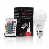 AURAGLOW 7w Remote Control Colour Changing LED Light Bulb - 3rd Generation - E27