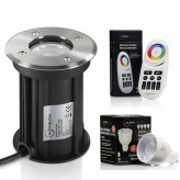 Auraglow GU10 Recessed Ground Fitting & Colour Changing LED Light Bulb Bundle