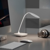 Auraglow Rechargeable Flexi-Neck Dimmable LED Desk Touch Lamp