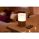 Auraglow Rechargeable Cordless Colour Changing LED Table Lamp – WOODEN