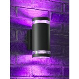 Auraglow Double Up & Down Wide Pillar Wall Light - ASTRA - Colour Changing