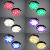 Auraglow White/Colour Changing LED Under Cabinet Puck Lights