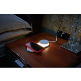 Auraglow 10W Wireless Fast Charger with Removable Touch Lamp - TWIN PACK