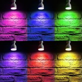 Auraglow 2.4GHz Remote Control RGB GU10 LED Light Bulb - 60w EQV