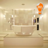 FIRE RATED IP65 BATHROOM DOWNLIGHT FITTING WITH 7W GU10 BULB INCLUDED