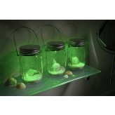 Solalux Set of 3 Remote Control Colour Changing Battery Operated Glass Jar Lights LED Lanterns.1.3