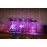 Solalux Set of 3 Remote Control Colour Changing Battery Operated Glass Jar Lights LED Lanterns.1.5