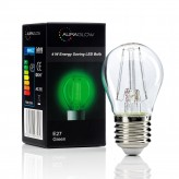 Auraglow 4w G45 Golf Ball Filament LED Vintage Light Bulb - E27 - GREEN - 1 PACK1