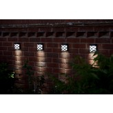 Solalux Super Bright 6 LED Wireless Garden Path Solar Light Weather Resistant Outdoor Fence Lamp - Cool White.1.222