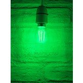 Auraglow 4w G45 Golf Ball Filament LED Vintage Light Bulb - E14 - GREEN2