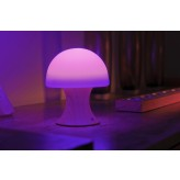 Auraglow Colour Changing LED Mood Light Wireless USB Rechargeable Bedside Table Mushroom Desk Lamp