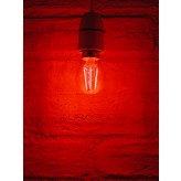 Auraglow 4w G45 Golf Ball Filament LED Vintage Light Bulb - E14 - RED - 1 PACK .2