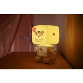RoboGlow - The Sound & Voice Activated Wireless Children's Night Light with Creative Stickers 5