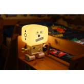 RoboGlow - The Sound & Voice Activated Wireless Children's Night Light with Creative Stickers 6