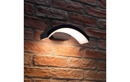 Auraglow Black Arch Integrated LED Outdoor Wall Light - TRIUMPH