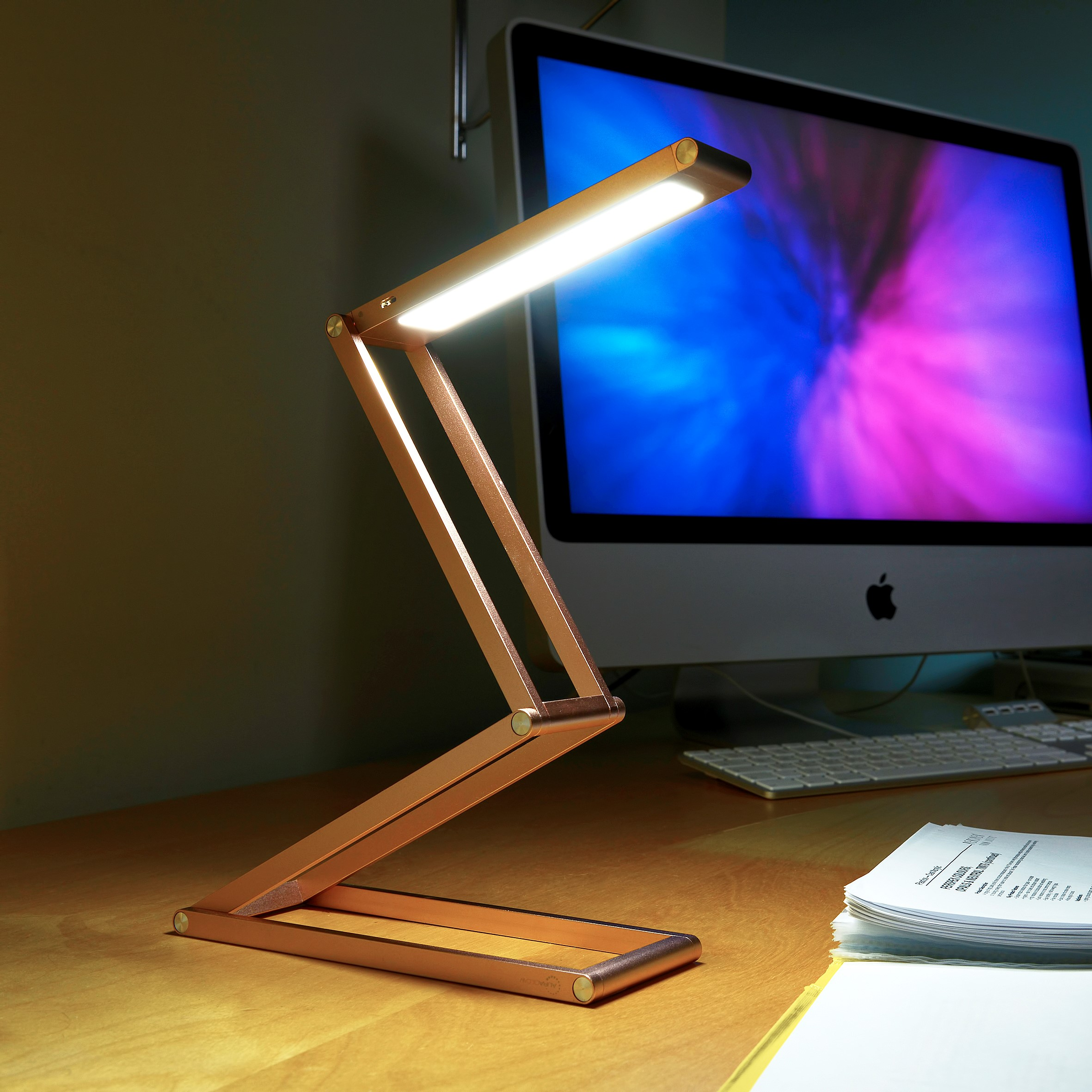 Wireless Rechargeable Led Folding Desk Lamp Auraglow Led