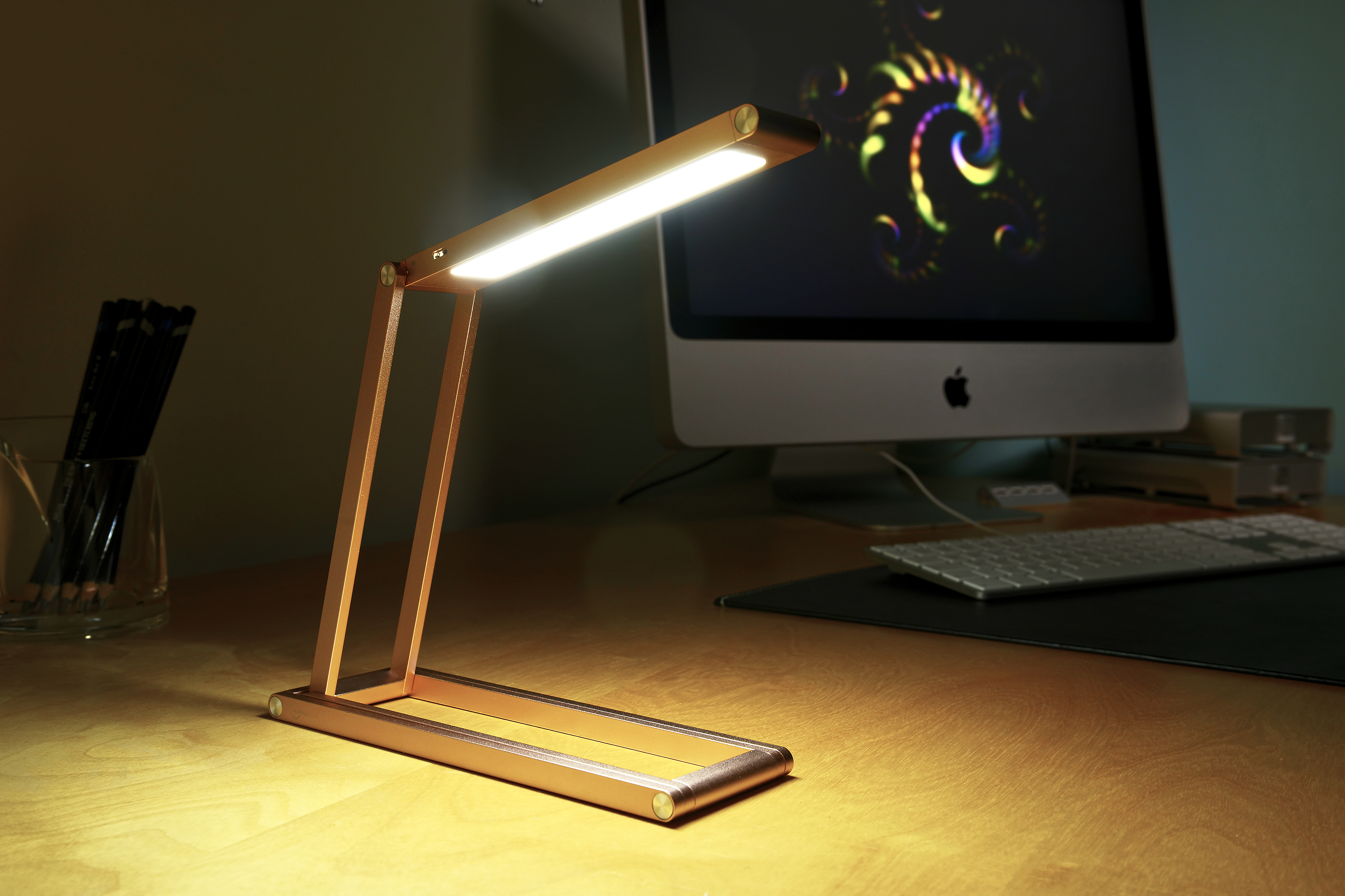 Auraglow Wireless Dimmable Desk Lamp Usb Rechargeable Folding Led
