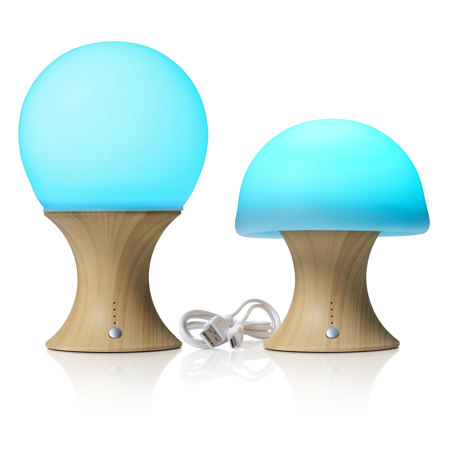 colour changing wireless usb rechargeable led mushroom. Black Bedroom Furniture Sets. Home Design Ideas