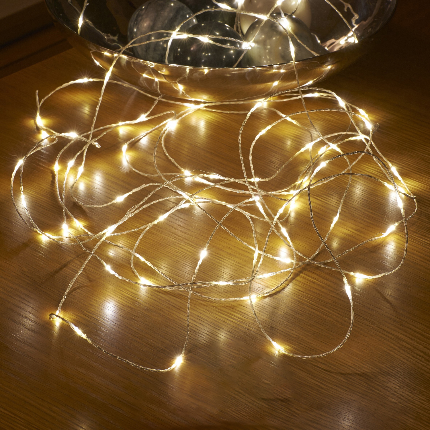 Micro LED String Lights - Battery Operated - Remote Controlled - Outdoor - 5M - Auraglow LED ...