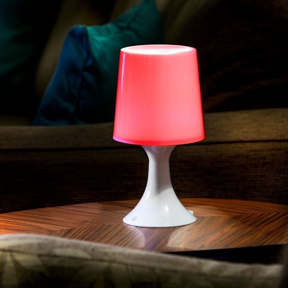 colour changing led table lamp auraglow led lighting. Black Bedroom Furniture Sets. Home Design Ideas